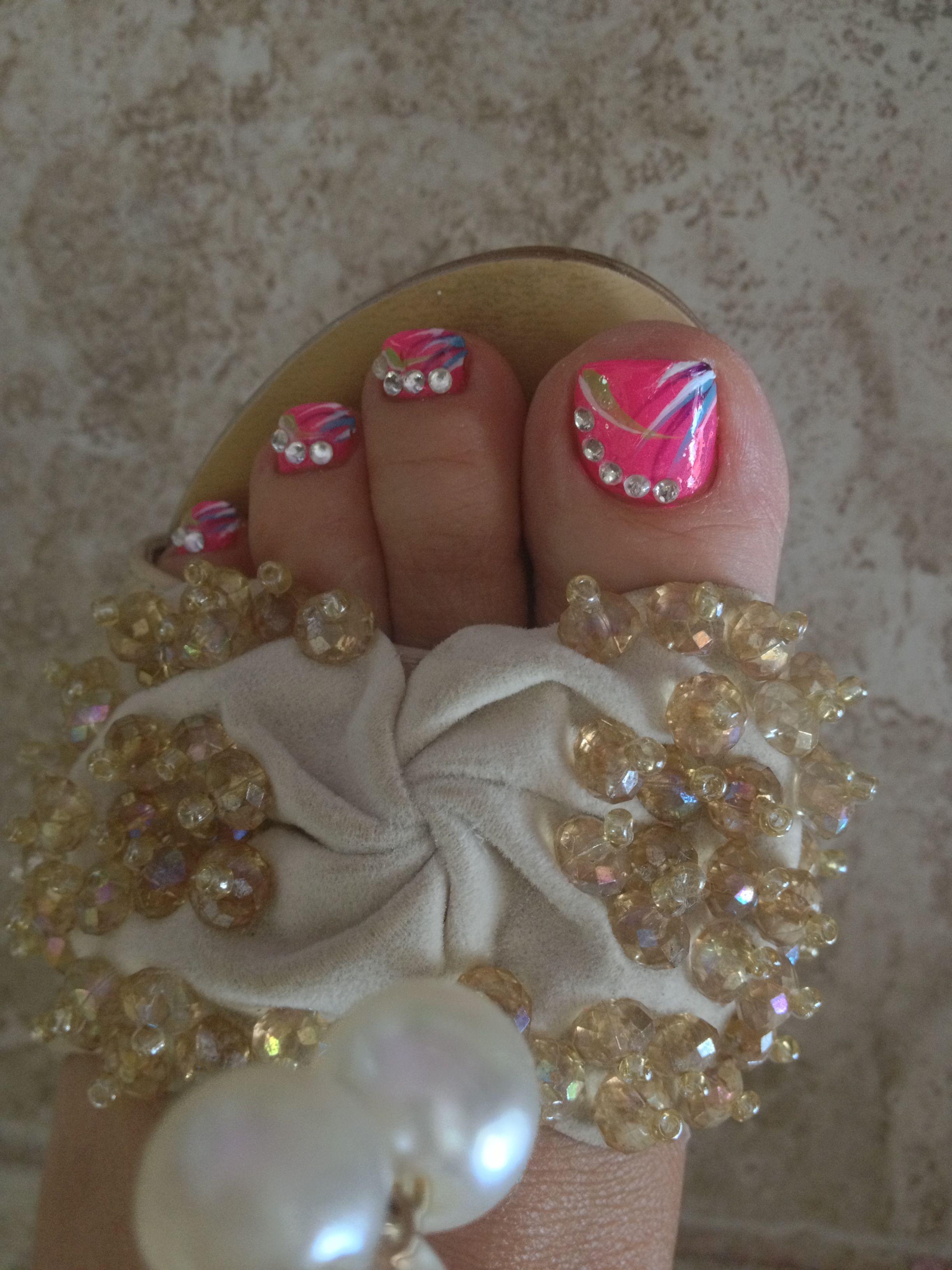 Love my toe nail design   Toe nail art   Pinterest   Toe nail ...