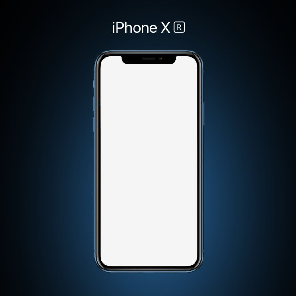Iphone Xr Blue Mockup Phototype Png And Psd Iphone Mockup Blue