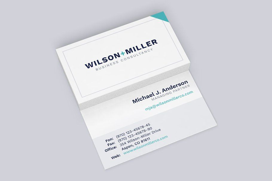 Business Card Template Typo Card Business Template Templates