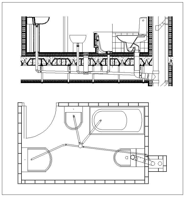 plumbing details  u2013 cad design