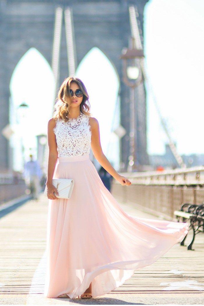 Lace & Locks Pink Maxi Skirt Fall Inspo | Wedding Dreams ...
