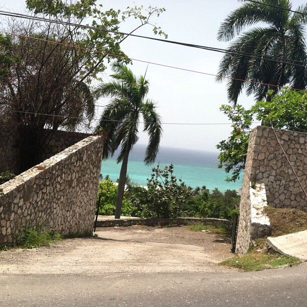 The entrance to Al Capone's summer home in Montego Bay, Jamaica. A beautiful place, so much fun to see! (:
