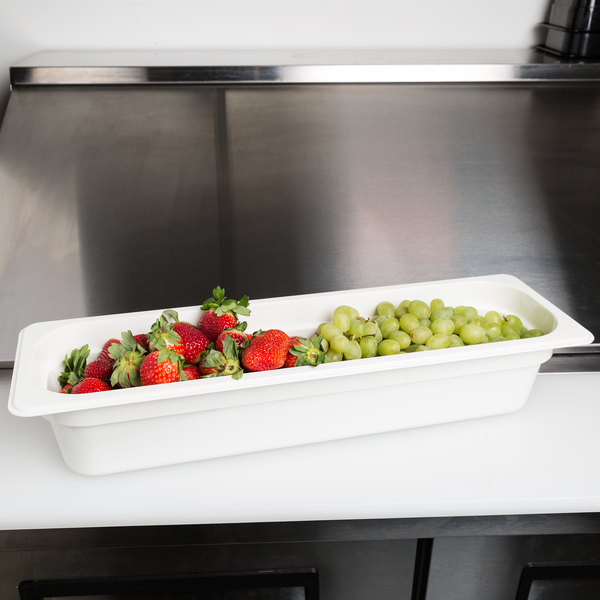 Cambro 24lpcw148 Camwear 1 2 Size Long White Polycarbonate Food Pan 4 Deep Cambro Food Food Waste