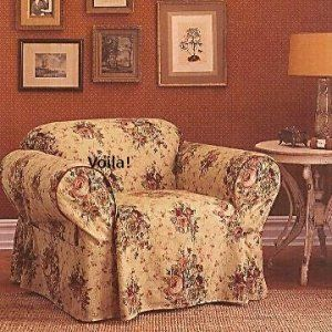 Waverly CHAIR Slipcover Harbor House Toile Roses Sure Fit Floral Cover