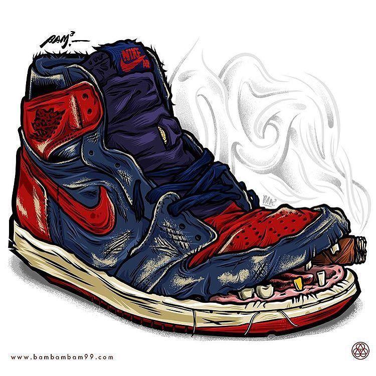7dea63d17 sneakerart  artist  bambambam.99