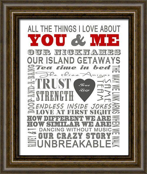 Valentines Day Gift Anniversary Gift Wedding By Inkysquidstudio