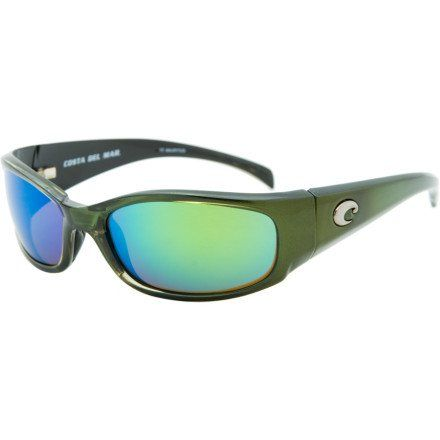 a6b1b963d Costa Del Mar Hammerhead Polarized Sunglasses - Costa 400 Glass Lens Black  Green/Dark Amber