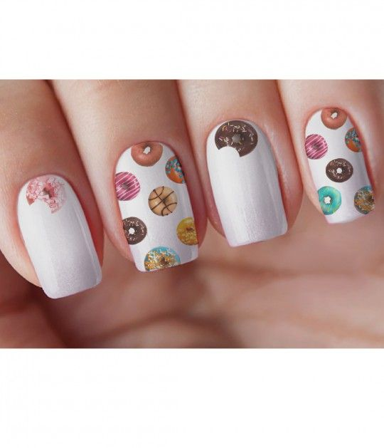 Donut Shop Nail Decal