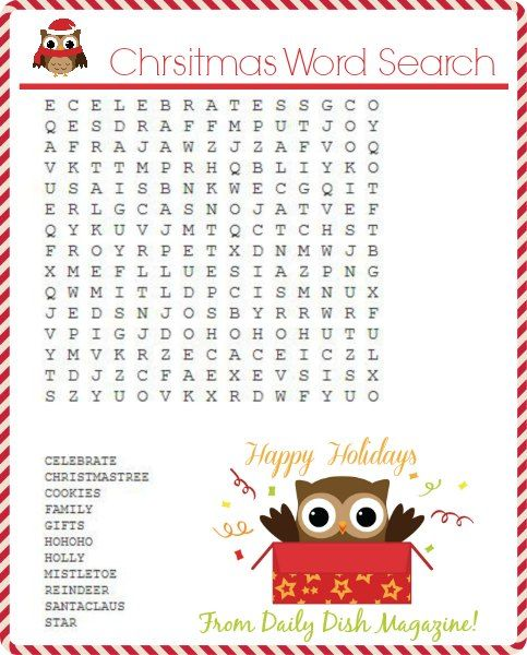 FREE Christmas Puzzle Printables | Christmas word search ...