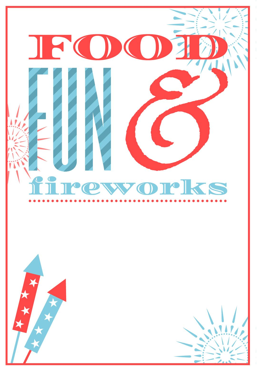 free printable 4th of july invitation july fourth pinterest