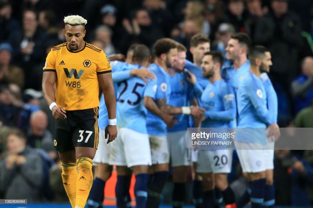 Wolverhampton Wanderers Spanish Striker Adama Traore Reacts After Wolverhampton Wanderers Wolverhampton Striker