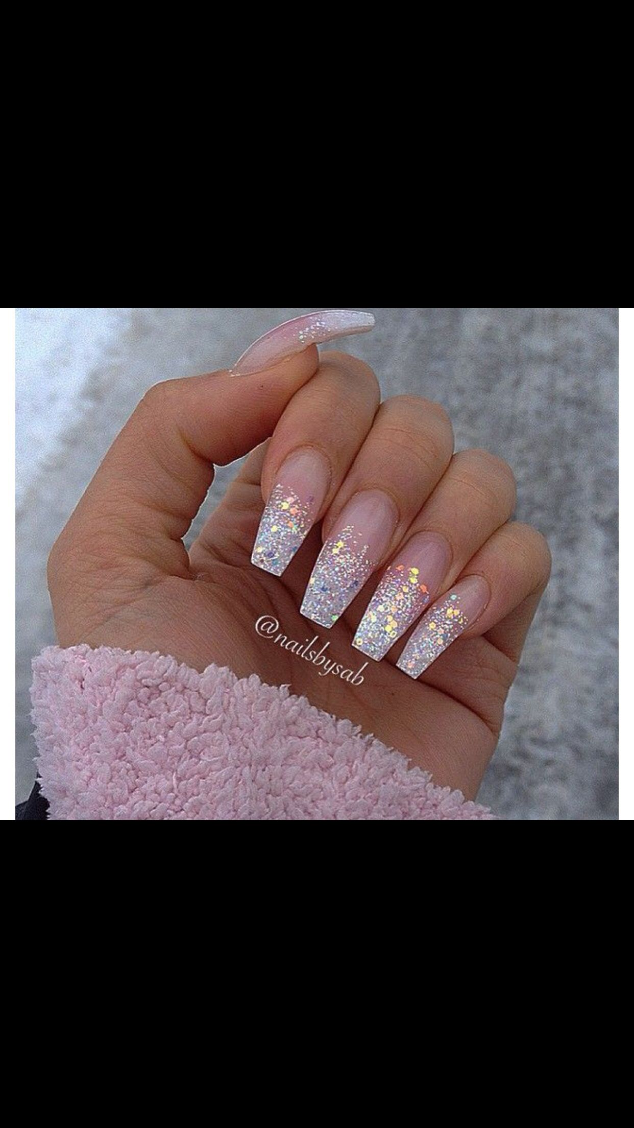 Glitter | Nails | Pinterest | Nail nail, Make up and Coffin nails