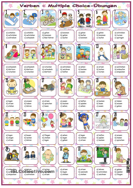 Verben - Multiple Choice-Ãœbungen * mit Lösung | Język niemiecki ...