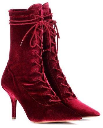 a3b334c740544 Yeezy Velvet ankle boots (SEASON 5)