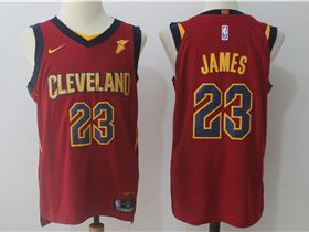 timeless design 9cffa c8f92 Cleveland Cavaliers #23 LeBron James Burgundy Authentic ...