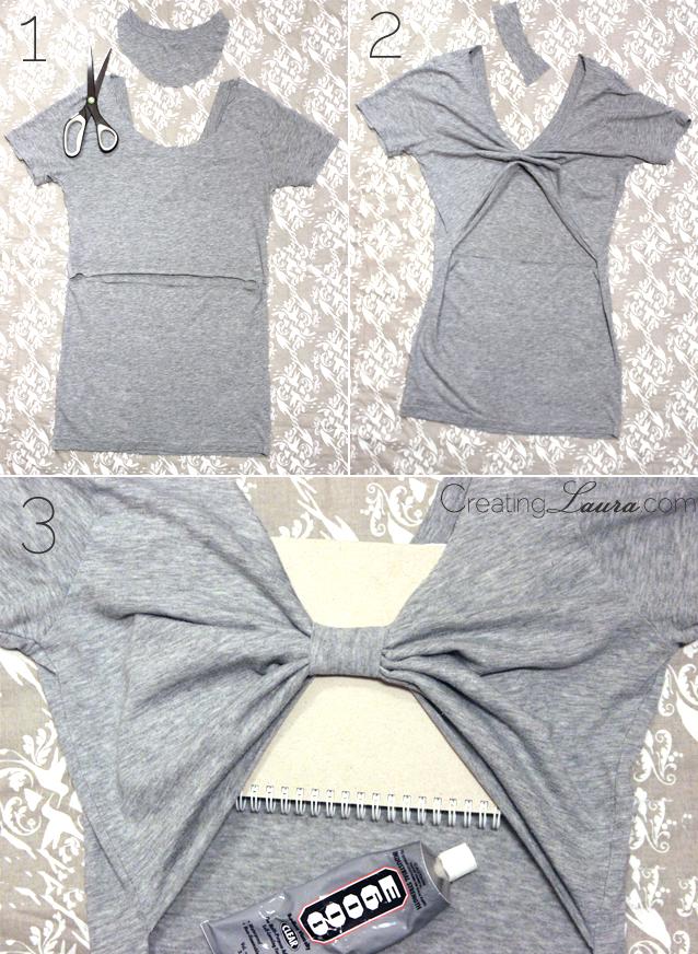 DIY: transformar las mangas de una camiseta (sin coser | Ropa ...