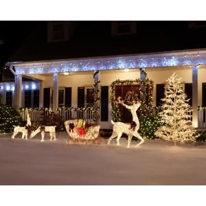 Home Accents Holiday  140 Light Gift Box Sculpture Set  Set of 3     Home Accents Holiday  140 Light Gift Box Sculpture Set  Set of 3    TY187 1218 at The Home Depot   Mobile