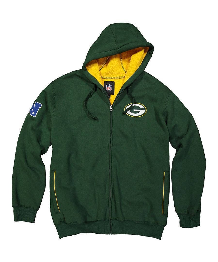 Look At This Green Bay Packers Zip Up Sherpa Hoodie Men S Regular On Zulily Today Hoodies Men Sherpa Hoodie Hoodies