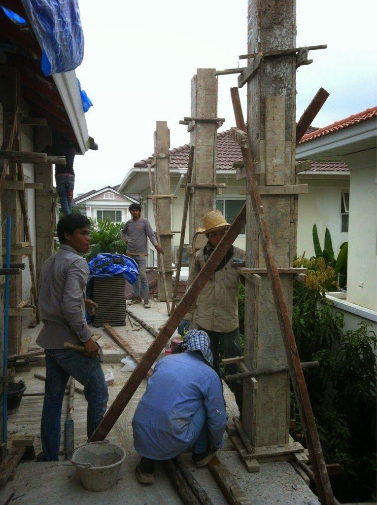 รับเหมาก่อสร้าง ต่อเติม รับสร้างบ้าน Front Service ช่วยท่านได้: งานต่อเติม ข้างบ้าน 2 ชั้น