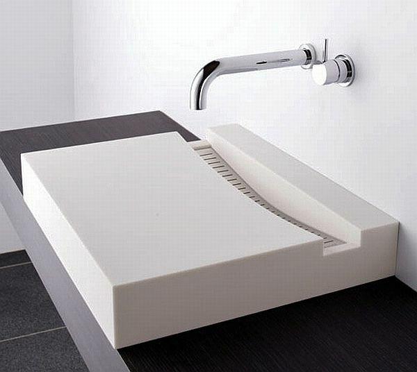 Badezimmer Waschbecken #22: Zen Badezimmer Waschbecken Design Quadratisch Waschtisch