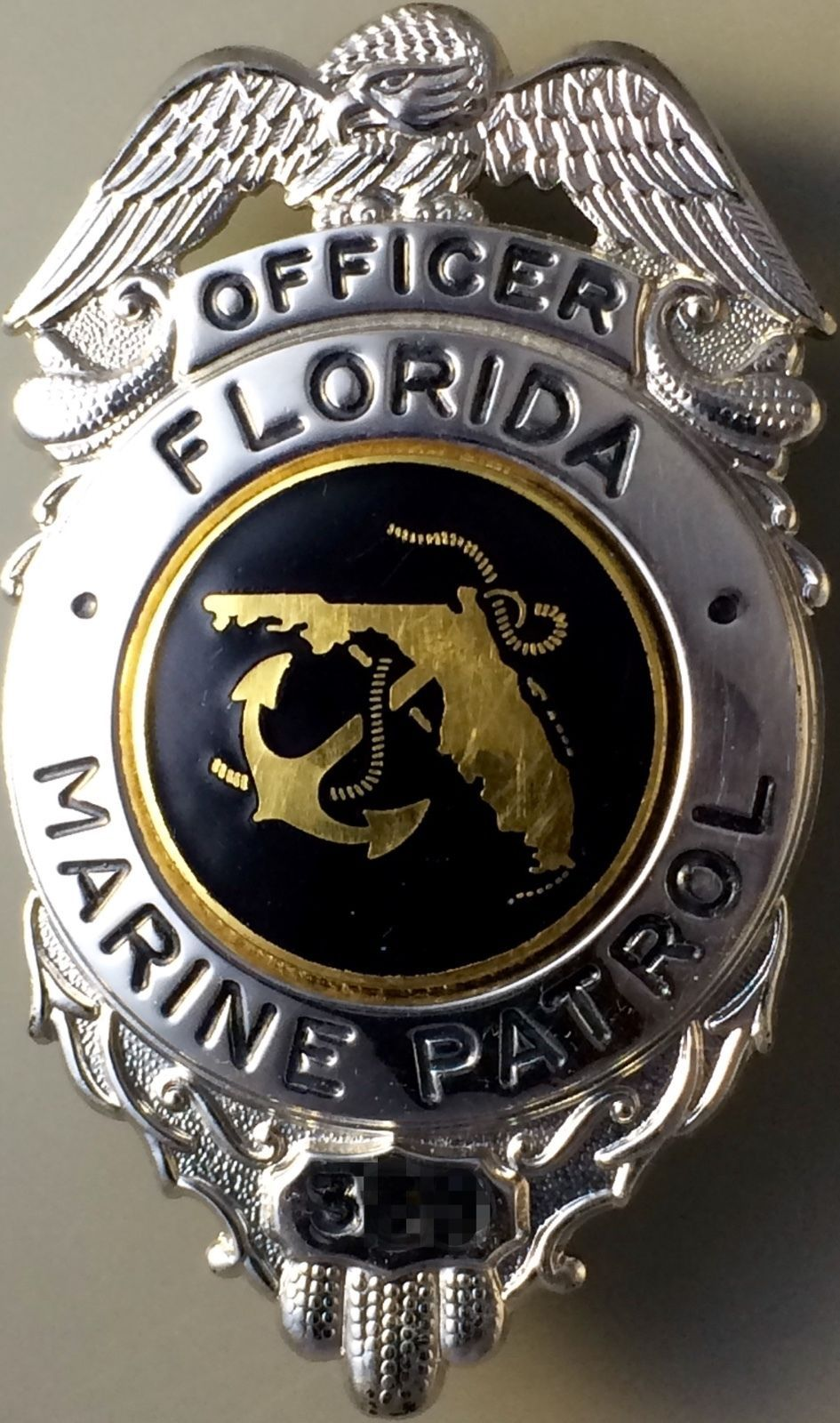 Police cap badges ga rel hat badges page 1 garel - Officer Florida Marine Patrol Blackinton Police Badgespolice