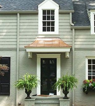 Front Entry Awnings Google Search House Entrance Metal Door Awning Door Overhang