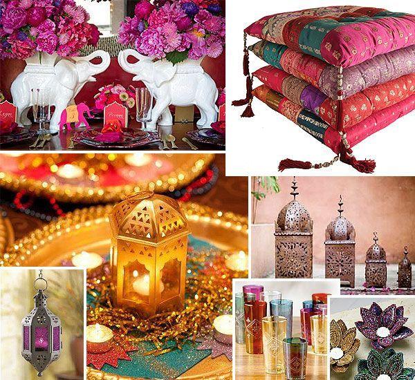 Objetos de Decoração para serem utilizados em festa árabe