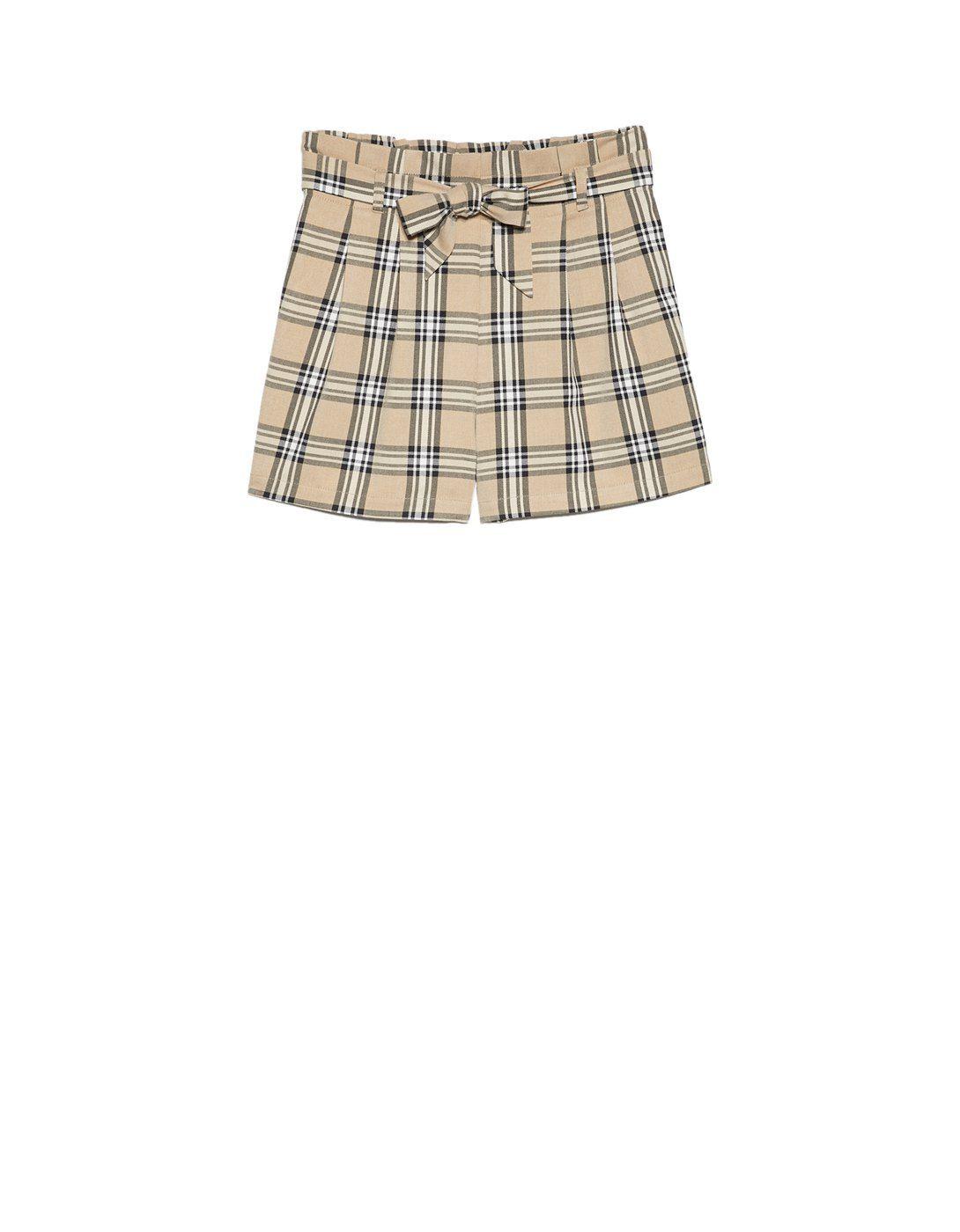a61d56366 Pantalon corto estampado cuadros | #New_In July 2018 | Pantalones ...