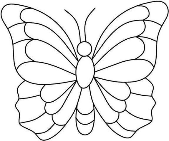 Schmetterlinge Ausmalbilder Zum Ausdrucken Dekoking Com 4 трафарет