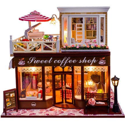 DIY Handcraft Miniature Project Kit Sweet Words Furniture LED Wooden Dolls House
