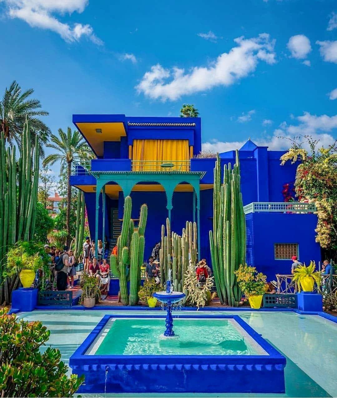 Morocco On Instagram We Majorelle Garden A Botanical Garden