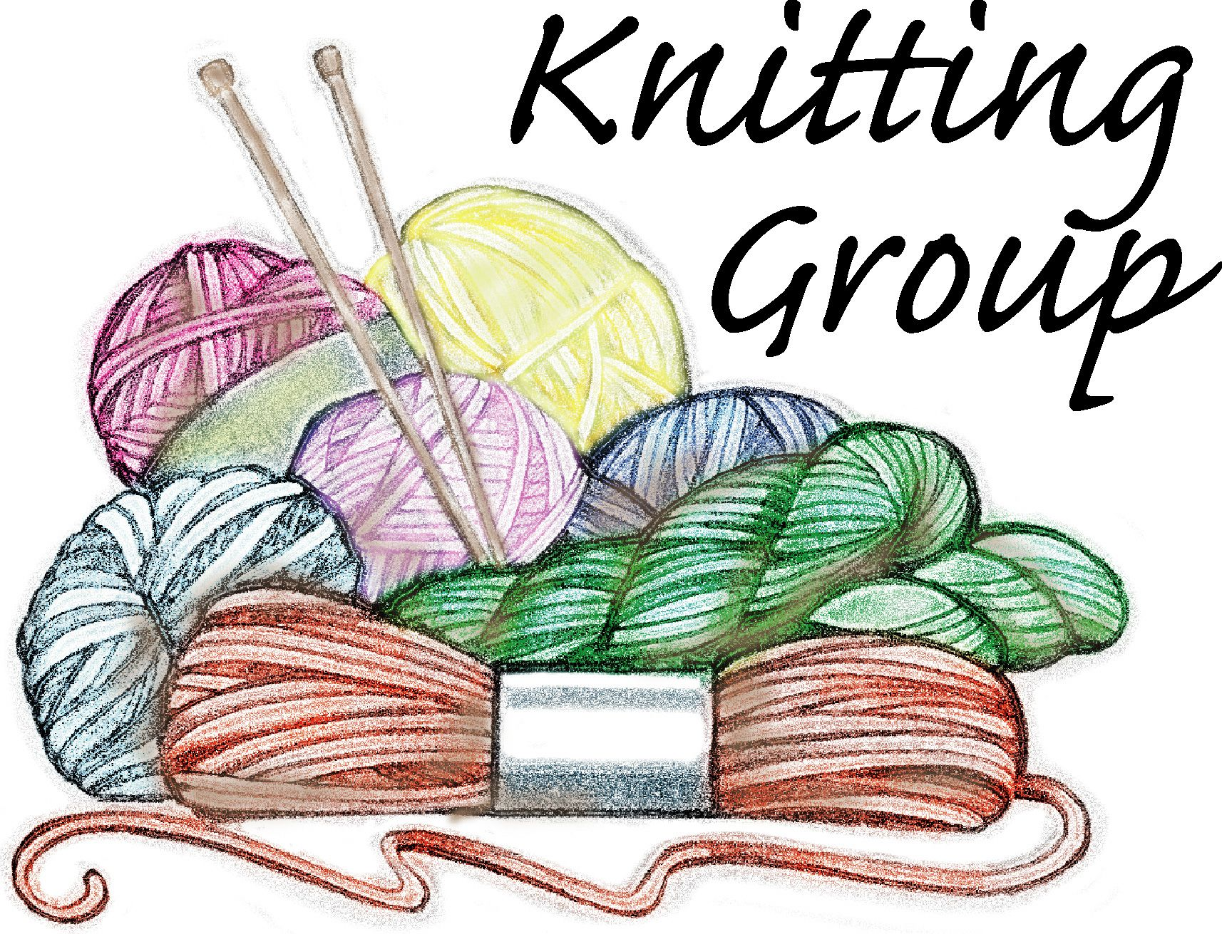 Knitting Images Free Clip Art : Clip art women knitting or crocheting the