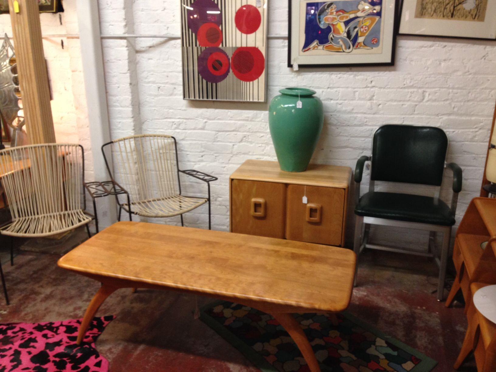 Heywood Wakefield coffee table & record cabinet