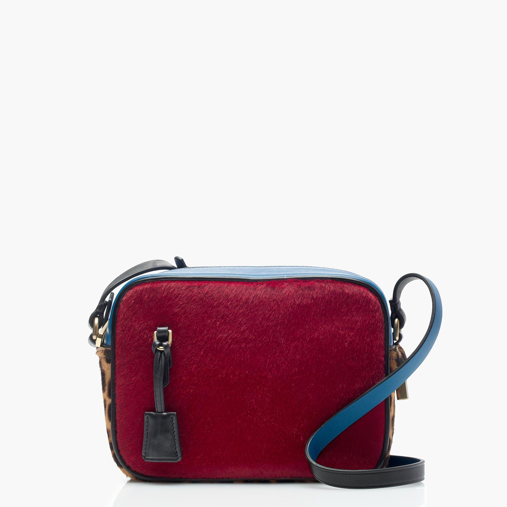 J.Crew - Signet bag in colorblock Italian calf hair