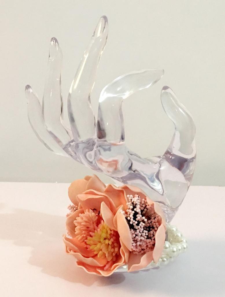 Milanoo Milanoo Wedding Wrist Corsage Orange Pearls