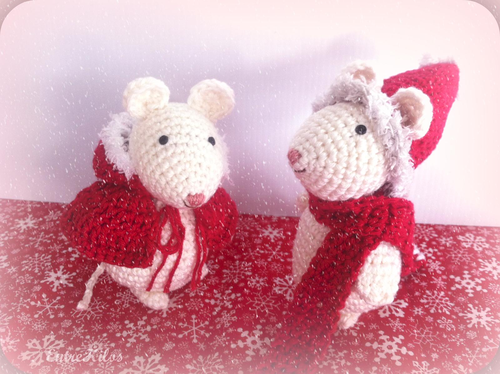 Amigurumis Navidad 2015 : Como hacer ratoncitos amigurumis navideños a crochet trineo