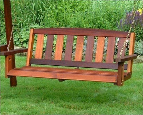 Great American Woodies Mission 4ft. Red Cedar Porch Swing | Gardens ...