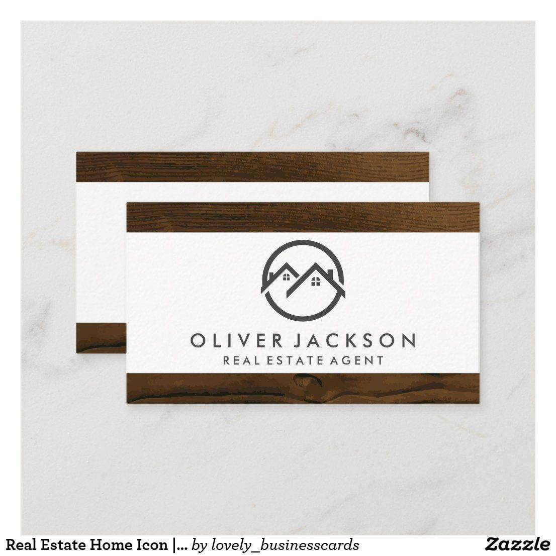 Real Estate Home Icon Wood Trim Business Card Zazzle Com Home Icon Wood Trim Estate Homes