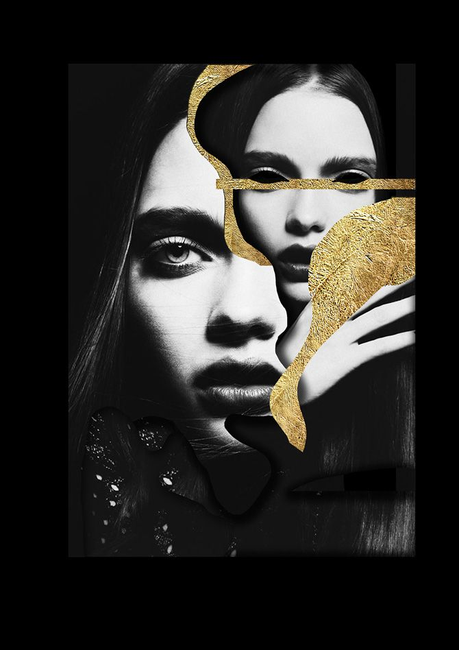 Edgy fashion editorial collages by Stephanie Lopes Simoes