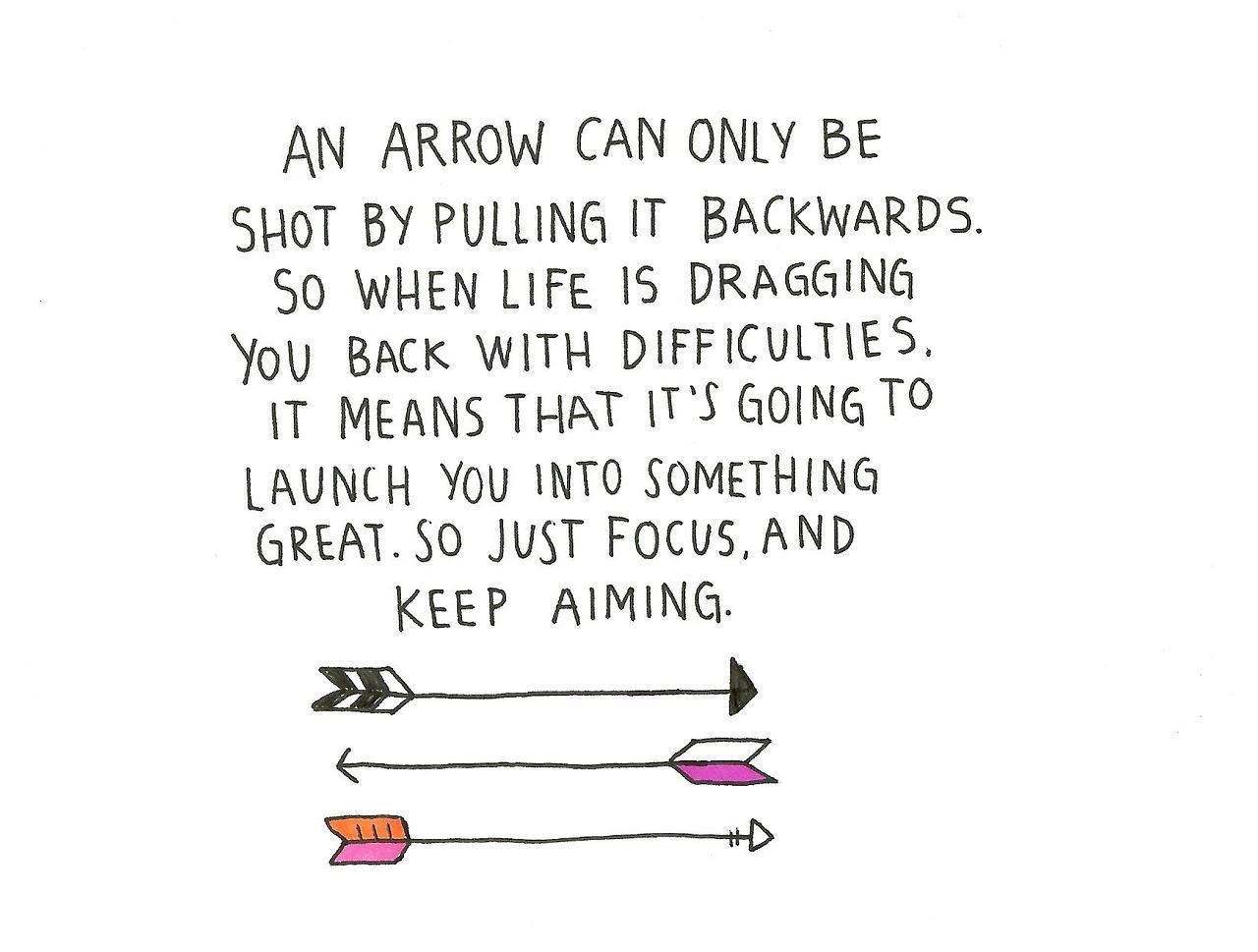 Arrow Quotes Life A Work In Progress  Inspiring Sayings  Pinterest  Wisdom