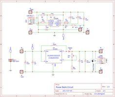 Power Bank Circuit On Pcb Powerbank Circuit Diagram Power