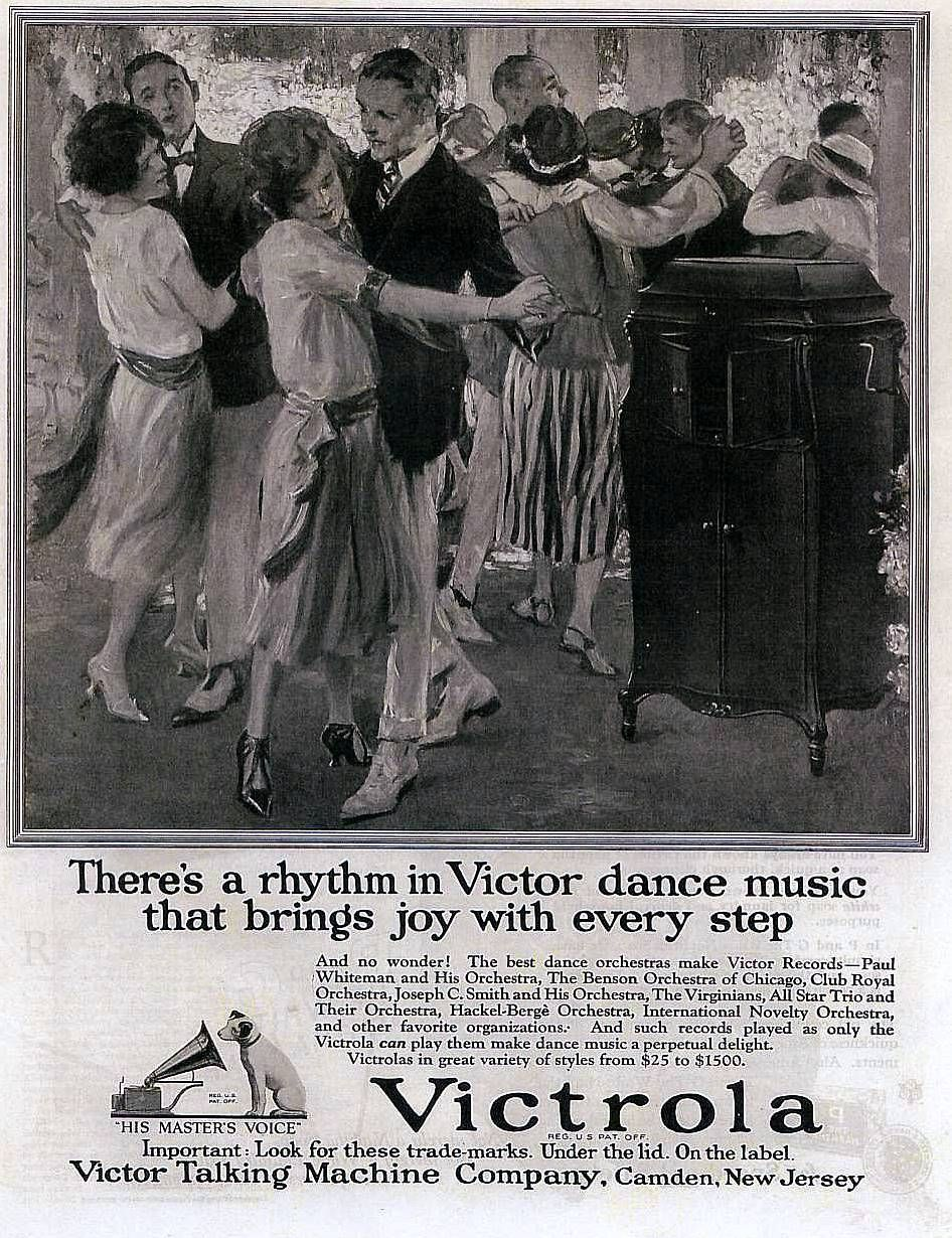 To the 1920's   There's a rhythm in Victor dance music