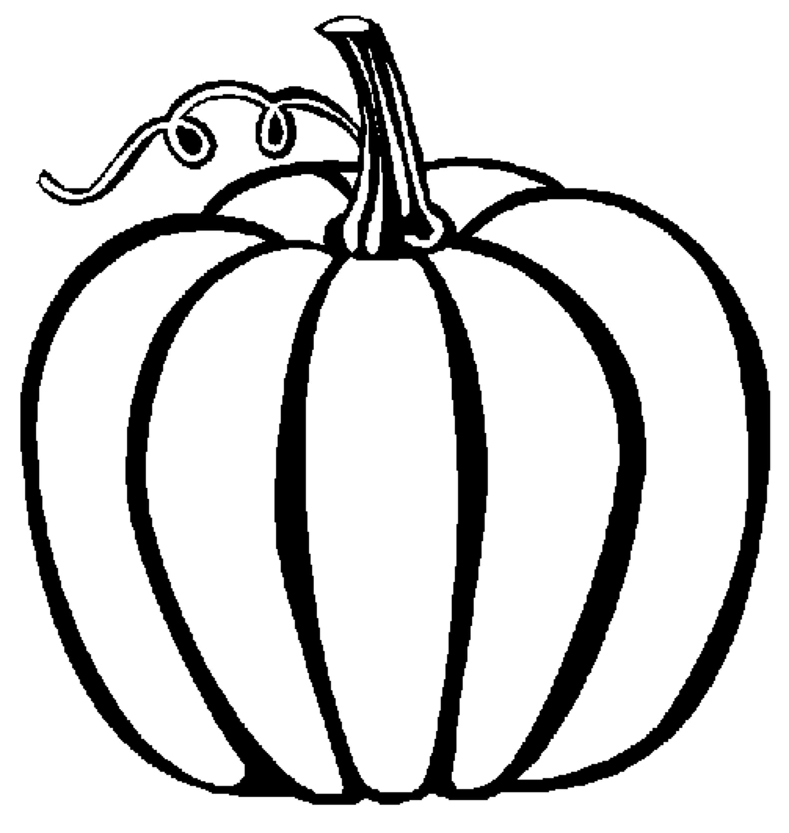 Cool Pumpkin Coloring Page Printable