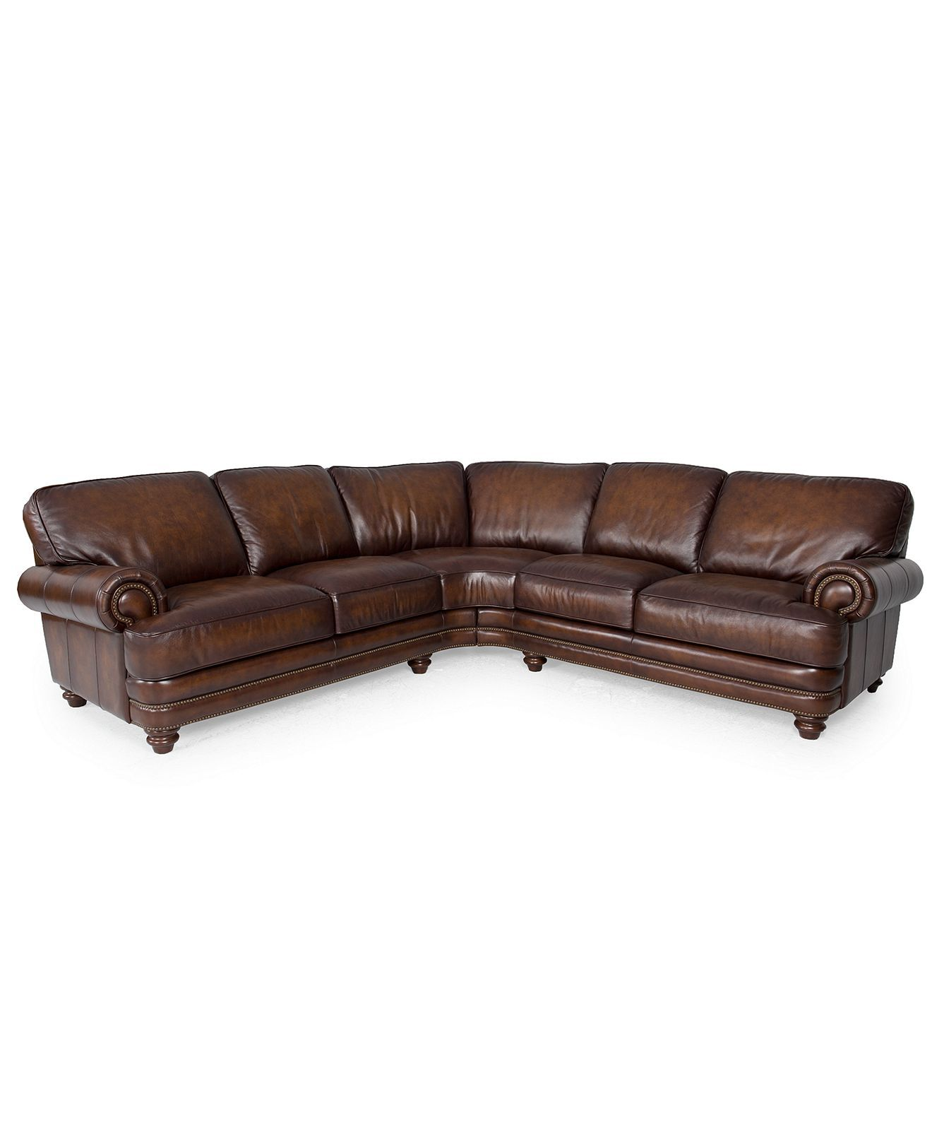 Brett Leather Sectional Sofa 2 Piece Right Arm Facing Sofa