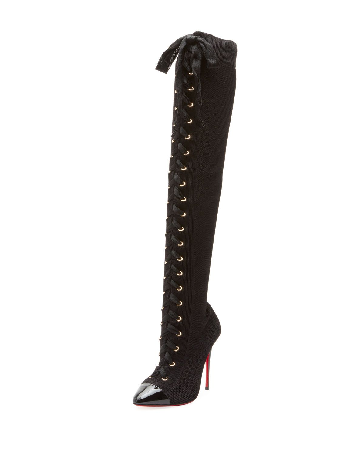 bb270a29c81f Frenchie Over-The-Knee Red Sole Boots
