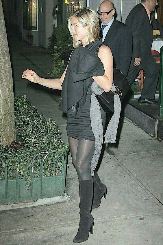 black Jennifer pantyhose in aniston