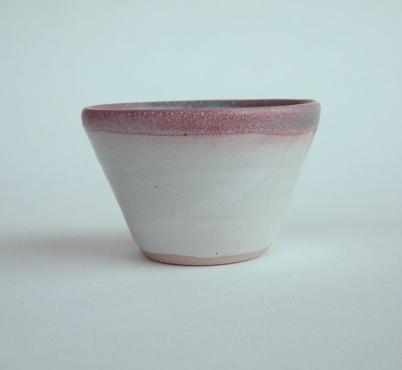 two-tone thrown and glazed ceramic cup/small bowl