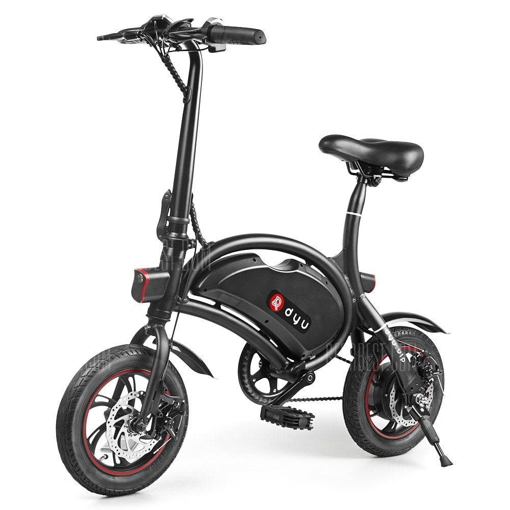 5707fe7da02 Just $499.99, buy F - wheel DYU D2 Folding Electric Bike 5.2Ah Battery EU  Plug online shopping at GearBest.com Mobile.