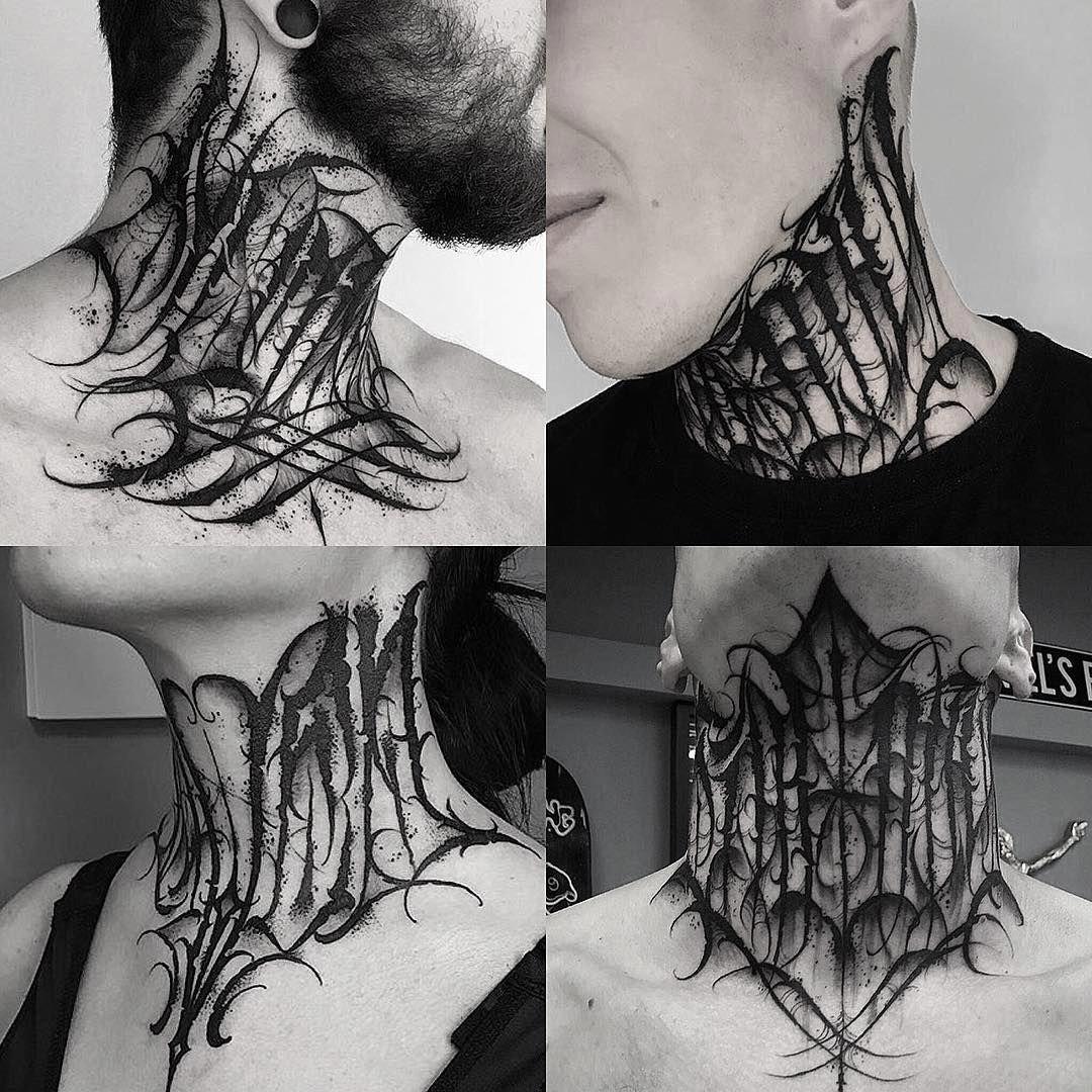 Sexytattoos Geometrytattoos Neck Tattoo Tattoo Lettering Neck Tattoo For Guys