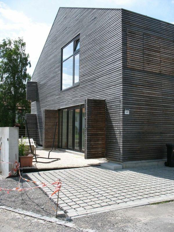 Elegantes Bauhaus aus Holz von Baufritz | Hausansichten | Pinterest ...